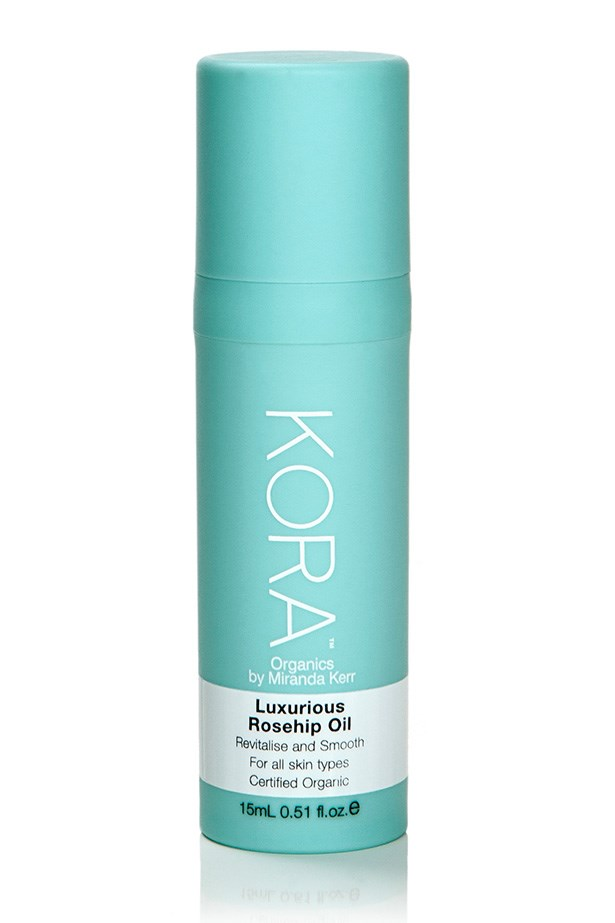 """<p><strong>Model favourite</strong></p> <p><em>Luxurious Rosehip Body Oil, $59.95, KORA Organics, <a href=""""koraorganics.com"""">koraorganics.com</a> </em></p> <p>Made with Noni extract (a long standing favourite of Miranda Kerr) this rosehip body oil is high in antioxidants and essential fatty acids which can counteract the drying effects of sun exposure.<p/>"""