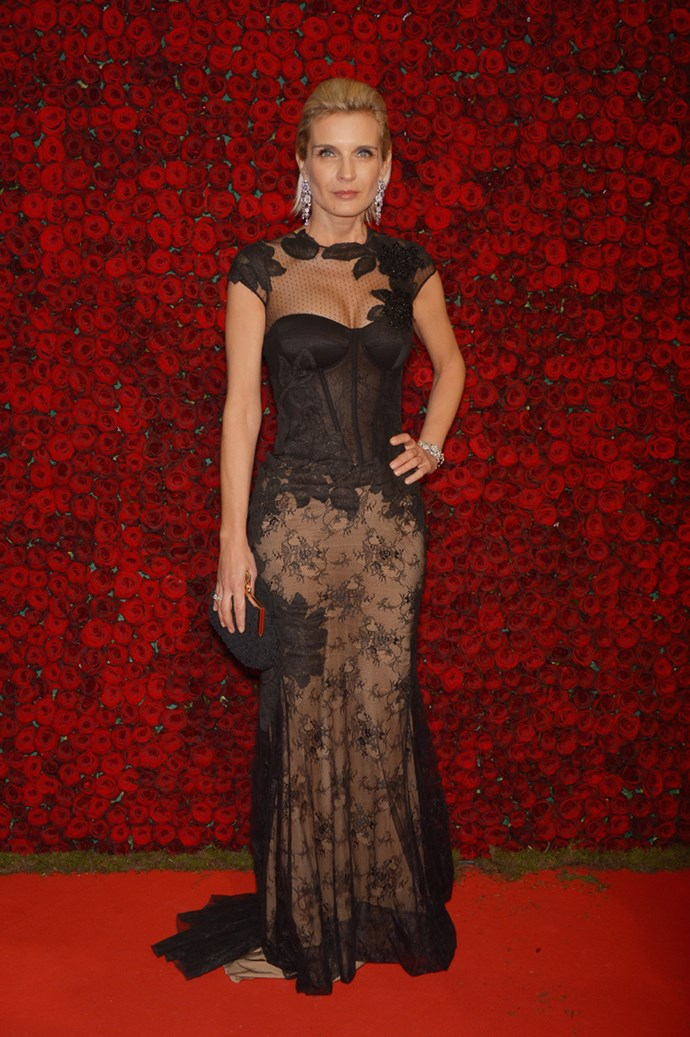 Melita Toscan Duplantier wearing a beautiful lace gown at the 67th Annual Cannes Film Festival.