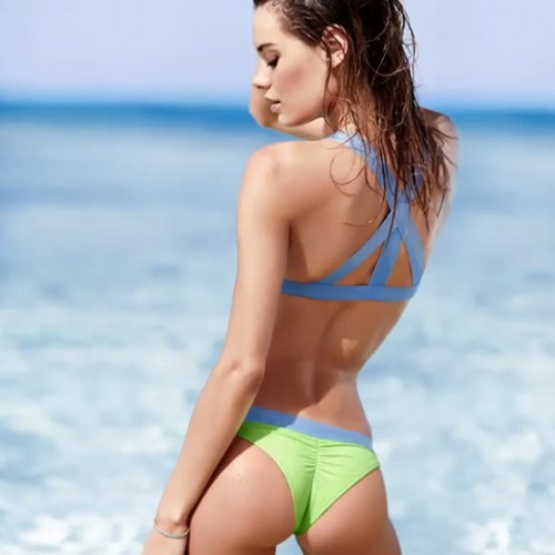Low-rise itsy banded bikini bottom, $20.50; victoriassecret.com.