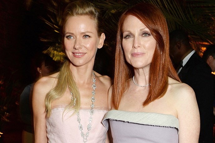Naomi Watts and Julianne Moore at the Calvin Klein party.
