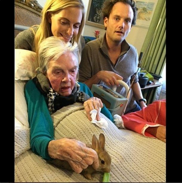 A family affair: Cecil Delevingne and Nanna Delevingne. So cute.