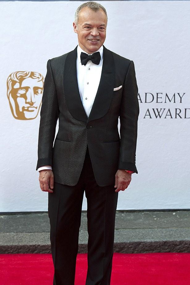 BAFTA TV Awards host Graham Norton looking very dapper as he makes his entrance.