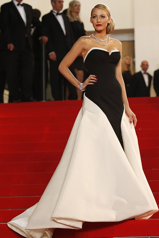 Blake Lively on the red carpet at Cannes