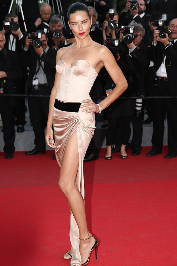 "Wearing a nude strapless corset dress by Alexandre Vauthier Couture, Adriana Lima shows us all why she's been a Victoria's Secret Angel for almost 14-years. <br><br> Related links: <br> <a href=""http://www.elle.com.au/news/celebrity-news/2014/4/alessandra-ambrosio-turns-33-1/"">The Victoria's Secret models who only get better with age.</a>"