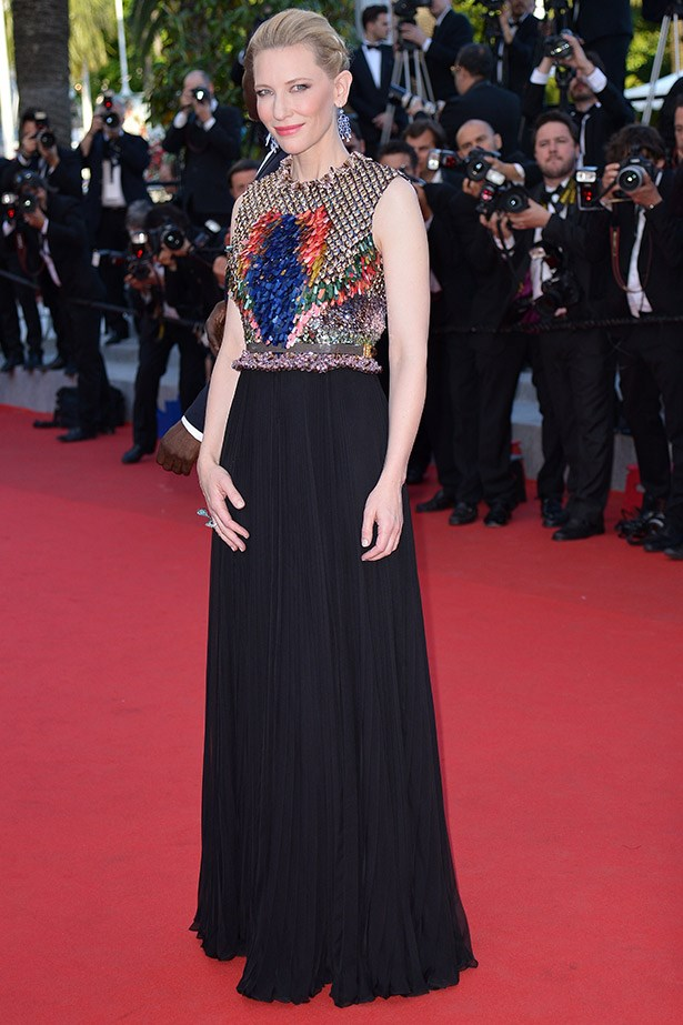 National treasure, Cate Blanchett looking her usual stylish self in Givenchy at the premiere of <em>How To Train Your Dragon 2</em>. No surprises here.