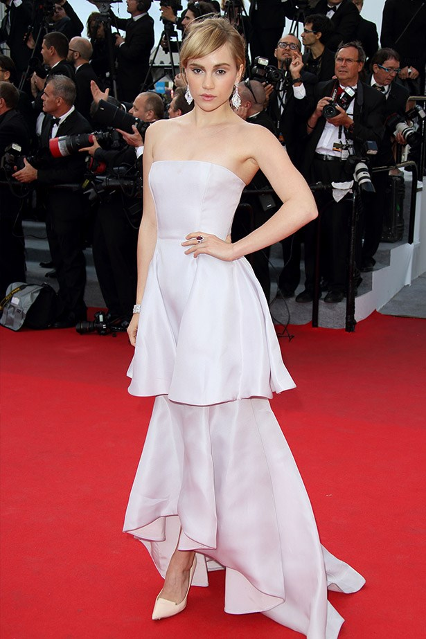 "Actress, model, It-girl, and Bradley Cooper's better half, Suki Waterhouse looked demure and ladylike in this tiered pastel gown. <br><br> Related Links: <br> <a href=""http://www.elle.com.au/news/beauty-news/2014/1/suki-waterhouse-fronts-burberry-brit-rhythm-fragrance/"">Suki Waterhouse fronts Burberry fragrance</a> <br> <a href=""http://www.elle.com.au/news/celebrity-news/2013/8/suki-hearts-sb/suki-waterhouse/"">Suki hearts Sass and Bide</a> <br> <a href=""http://www.elle.com.au/beauty/trends/2014/5/the-best-met-gala-beauty-looks-2014/suki-waterhouse/"">Best beauty looks of the Met Ball: Suki Waterhouse</a>"