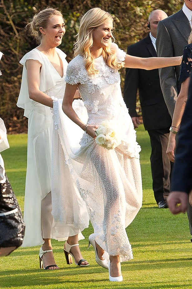 """<a href=""""http://www.elle.com.au/news/fashion-news/2013/11/elle-interview-the-stylish-adventures-of-poppy-delevingne/"""">Poppy Delevingne</a> sent Instagram into a flurry of #regrams when she wed James Cook in couture Chanel last weekend."""