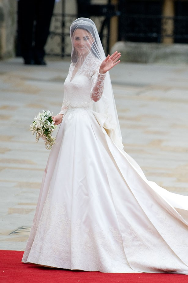 """It's been three years since the royal wedding and we're still swooning over the <a href=""""http://www.elle.com.au/news/beauty-news/2014/1/happy-birthday-duchess-of-cambridge/"""">Duchess of Cambridge</a> in this iconic Sarah Burton for Alexander McQueen creation."""