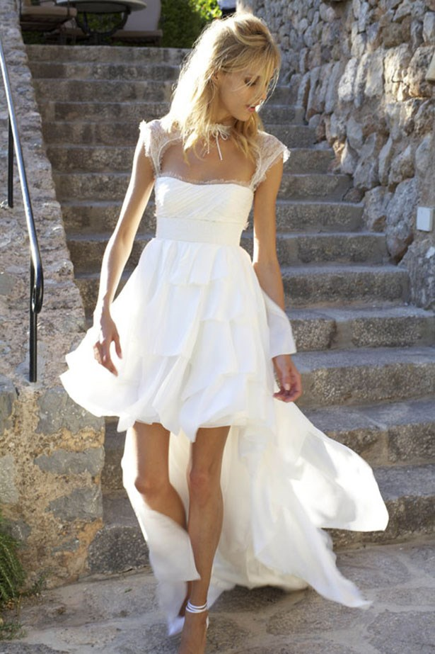 """In 2011, Anja Rubik married fellow model Sasha Knezevic on the Spanish island of Majorca. The bride wore a white, custom-made <a href=""""http://www.elle.com.au/runway/ready-to-wear/aw14-15/2014/2/emilio-pucci-aw14-15/"""">Emilio Pucci</a> dress designed by the label's creative director Peter Dundas."""
