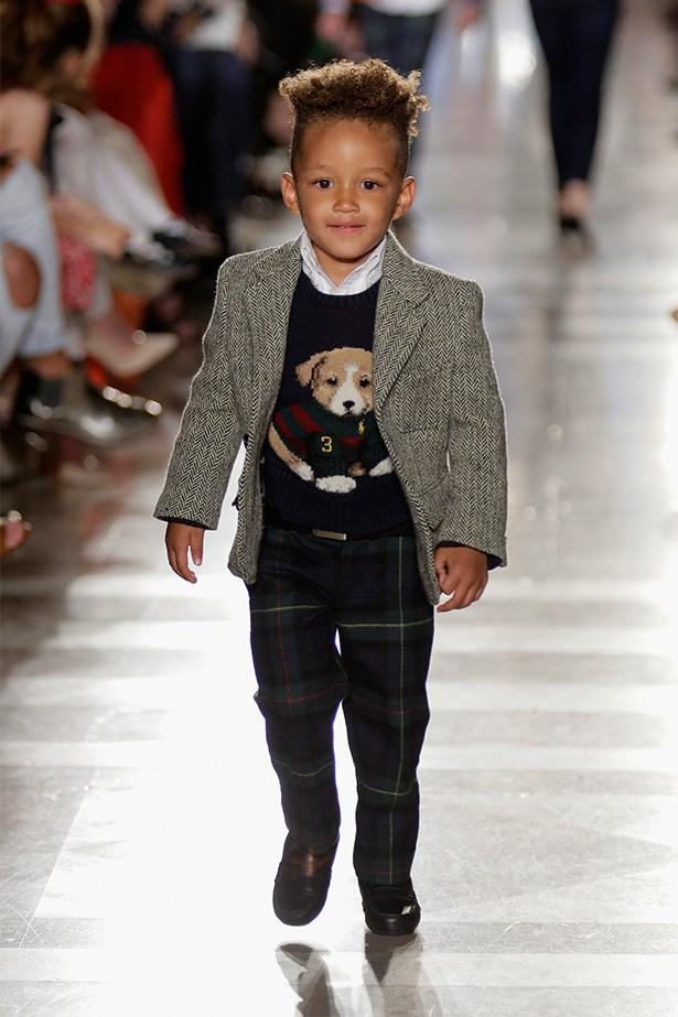 Egypt Dean stars on the runway at Ralph Lauren's AW-14 Children's Fashion Show.