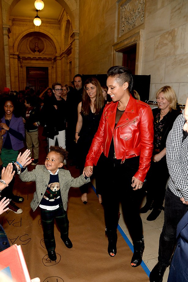 Egypt Dean and Alicia Keys at Ralph Lauren's AW-14 Children's Fashion Show.