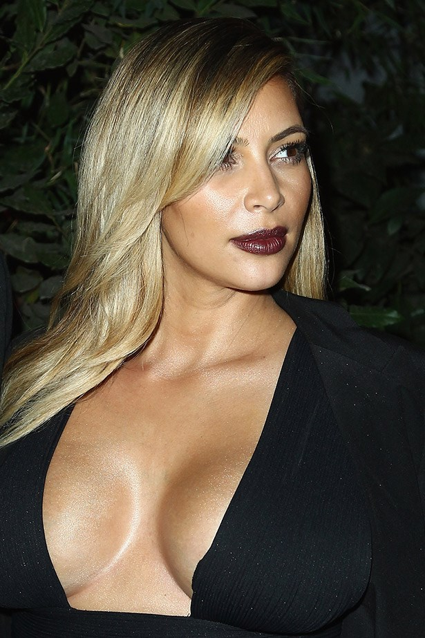 Kim K turns vamp for the <em>Mademoiselle C </em>cocktail party last year.