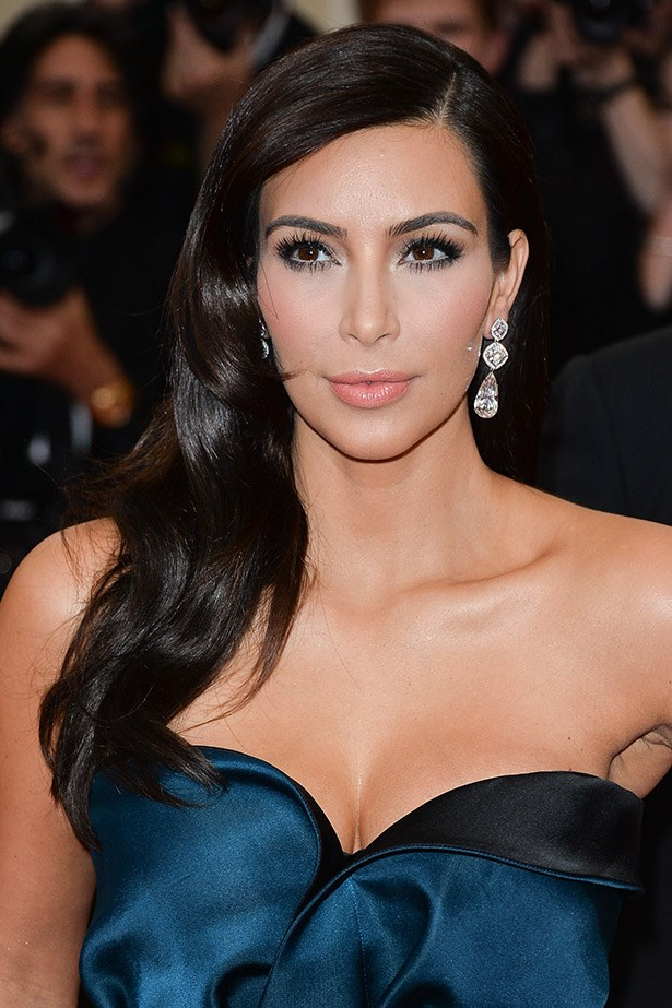 "Kim Kardashian at this year's Met Ball. <br><Br> Related links: <br> <a href=""http://www.elle.com.au/beauty/trends/2014/5/the-met-balls-best-beauty-looks/"">The best beauty looks of the Met Ball</a> <a href=""http://www.elle.com.au/news/fashion-news/2014/5/white-tie-and-decorations-the-met-gala-red-carpet/"">The Met Gala red carpet</a>"