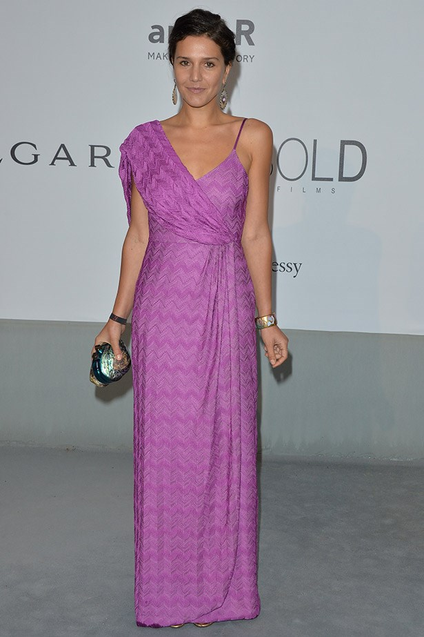 Designer Margherita Missoni looking beautiful in this year's Pantone colour of the year, radiant orchid.