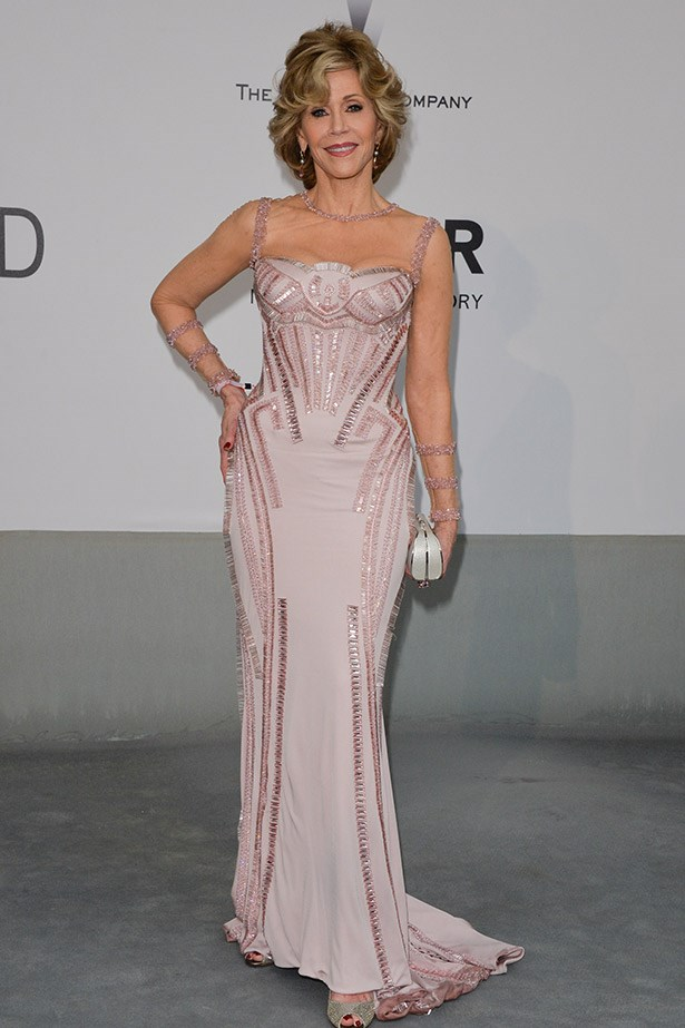 She's still got it: Jane Fonda in Atelier Versace.