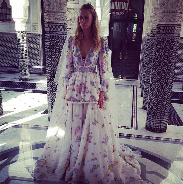 The dress! Poppy Delevingne wore an incredibly beautiful dress by Emilio Pucci.