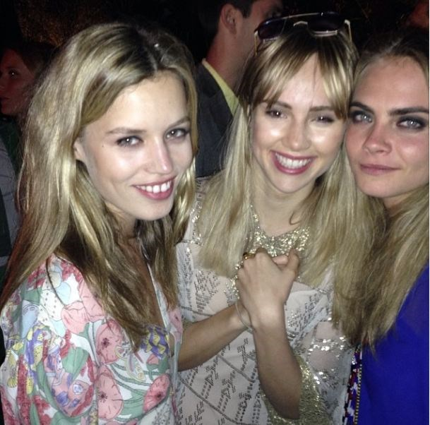 IT-girl central: Georgia May Jagger, Suki Waterhouse and Cara Delevingne.