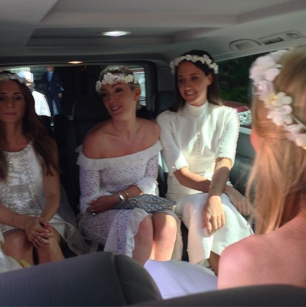 Backseat bridesmaids.