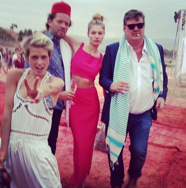 "Can you deal? Jess Hart heats up the desert in this fushia two-piece and poses with guests. <br><br Related Links: <br> <a href=""http://www.elle.com.au/fashion/celebrity-style/2014/5/celebrity-trend-grown-up-crop-tops/"">Celebrity trend: Grown up crop tops</a>"