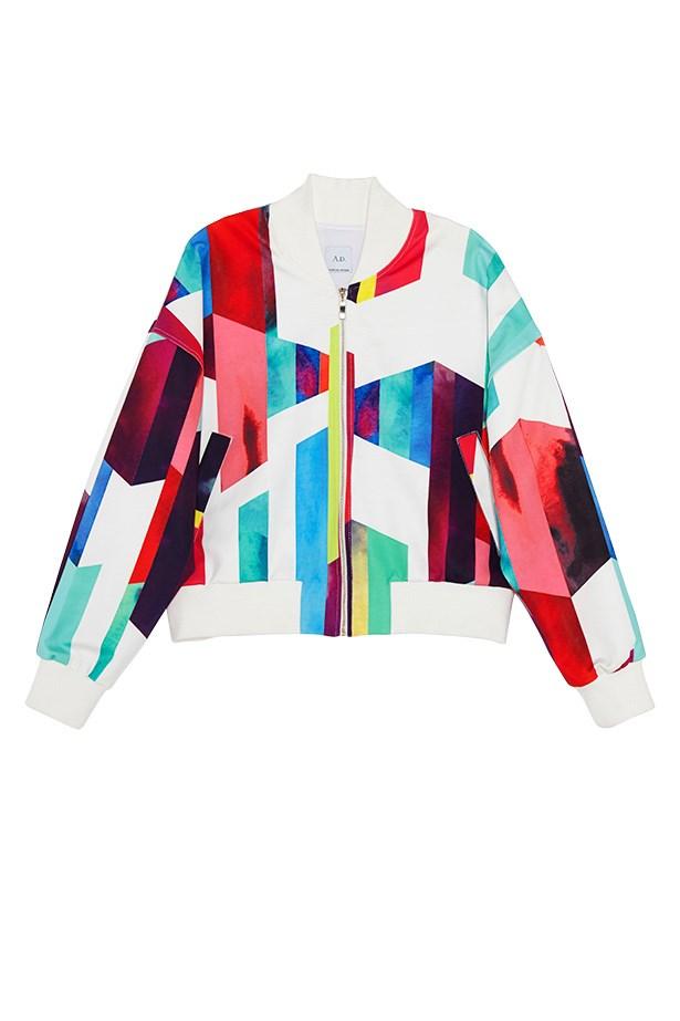 """Jacket, $309, AD By Haryono Setiadi, <a href=""""http://www.haryonosetiadi.com"""">www.haryonosetiadi.com</a>"""