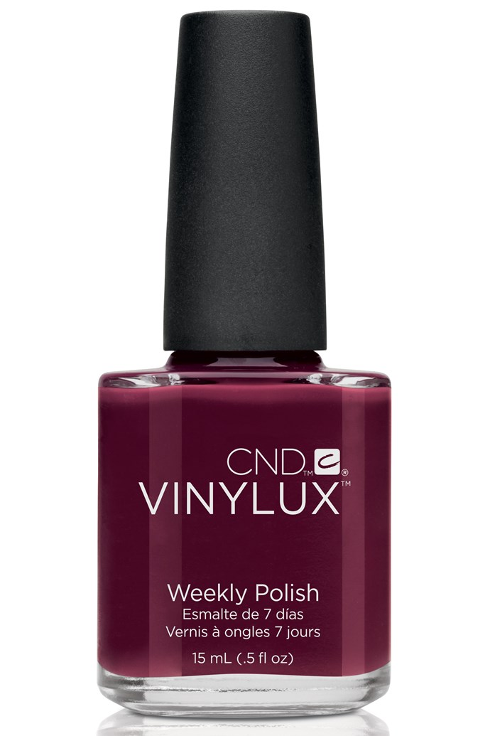 """<p><strong>Amy - Beauty Associate</strong></p> <p><em>Vinylux Bloodline, $19.95, CND, <a href=""""http://www.cndshop.com.au"""">cndshop.com.au</a></em><p> <p>It's deliciously dark and glossy – and the formula lasts on my nails for ages which is a big bonus (winter is a time for laziness).</p>"""
