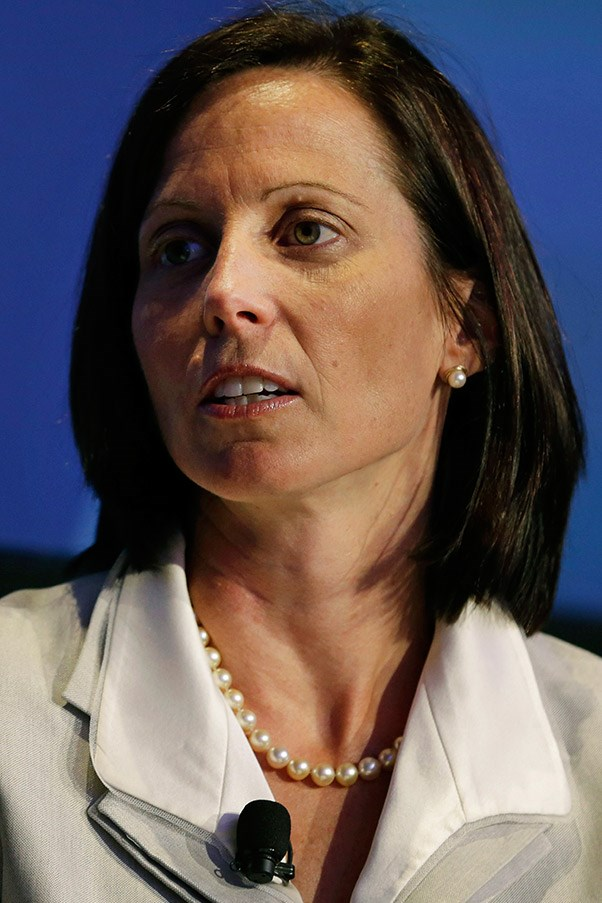 <strong>Adena Friedman, 44 >br> Rank:</strong> 69 <br> Recently moving into the role of President of Global Corporate and Information Technology Business at major financial services corporation, NASDAQ OMX Group, Adena Friedman has been hailed for her intelligent and strategy in business and is rumoured to be the company's next CEO. Prior to this role she was the Chief Financial Officer and Managing Director of private equity firm, The Carlyle Group.
