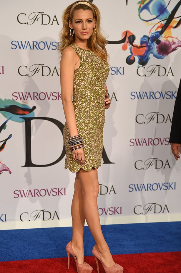 Blake Lively looked every bit the Barbie girl wearing Michael Kors.