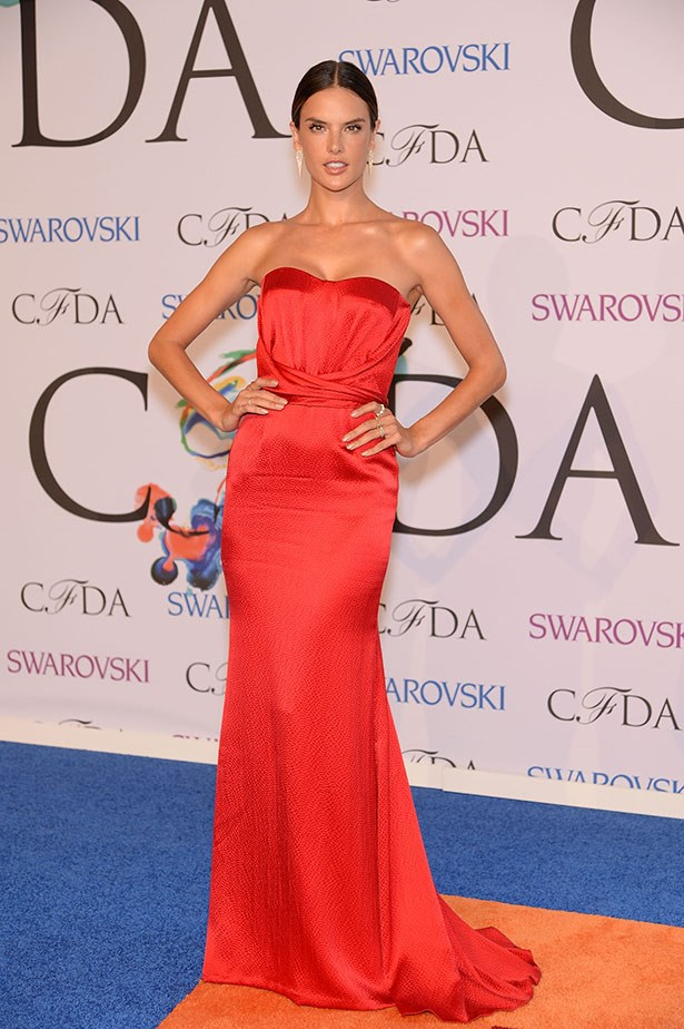 Alessandra Ambrosio wore red-hot Nonoo teamed with Jennifer Fisher Jewellery.