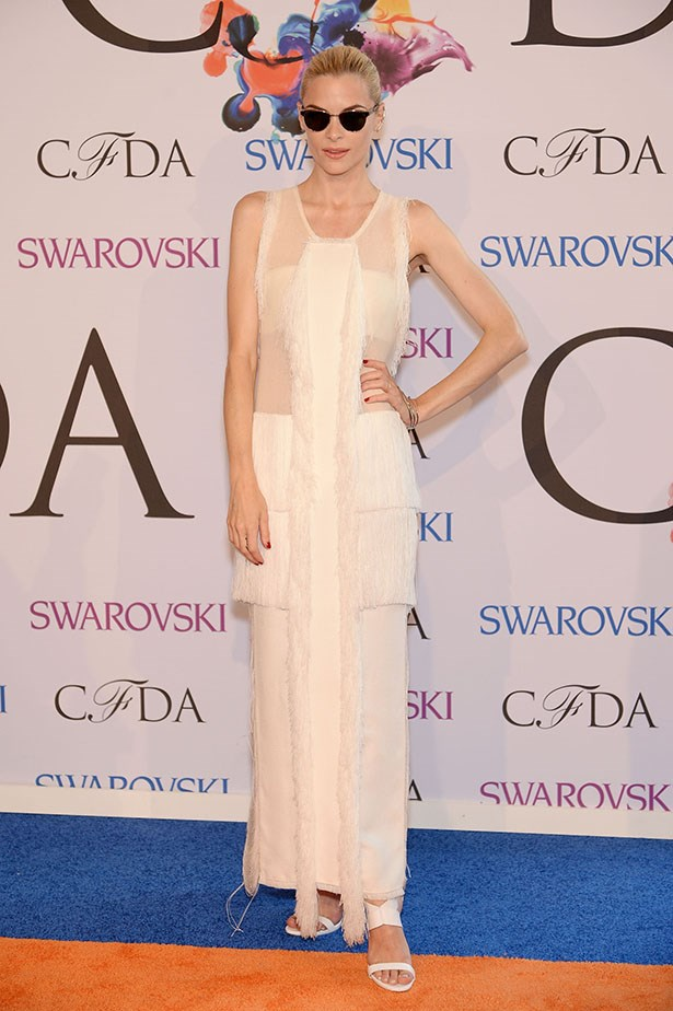 Jaime King opted for Calvin Klein Collection.