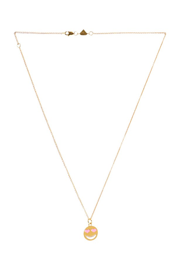 "Necklace, $1,195, Alison Lou, <a href=""http://www.matchesfashion.com"">matchesfashion.com</a>"