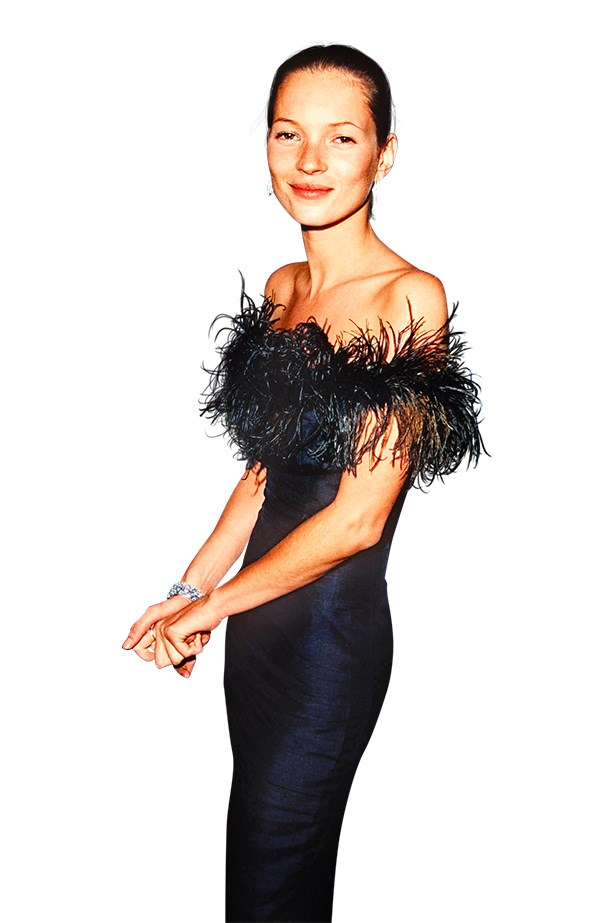 <p><strong>2. SEEK OUT A CULT CLASSIC, AND STICK TO IT</strong></p> <p>When Moss walked the red carpet in a marabou-trim LBD with Johnny Depp in 1995, she was on to a winner. She may have ditched Depp but she kept the dress – and it still works.</p>