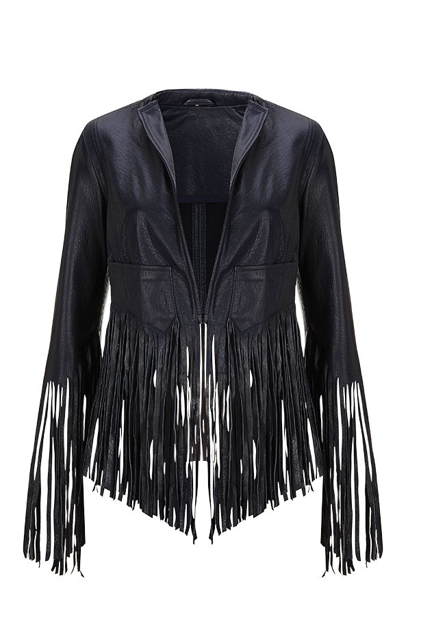 <p><strong>7. GET A GIG JACKET</strong></p> <p>Navy-blue fringed leather will see you through festivals, jam sessions and, as Moss experienced, three Rolling Stones concerts. Your rocker husband will approve.</p> <p>Jacket, $380, Kate Moss For Topshop, (02)8072 9300</p>