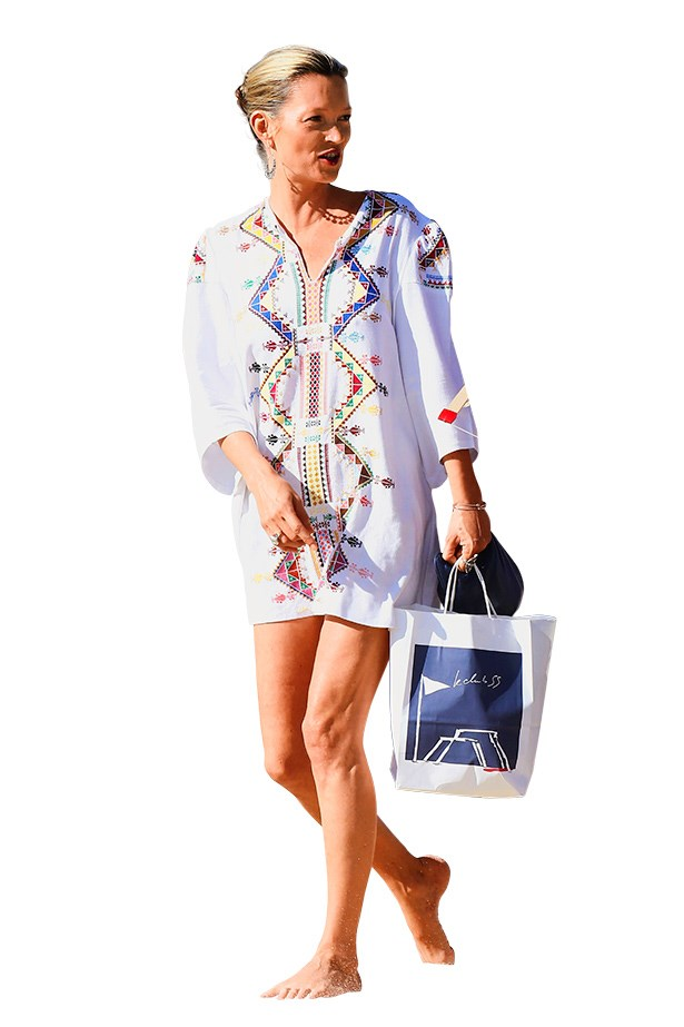 <p><strong>9. BOOK A BREAKATION</strong></p> <p>…and leave the baggy tees at home. Moss evenmanages to make a kaftan look cool. Justthe thing for sailing the Balearic Islands, or maybe hitting the beach in Byron Bay. </p>