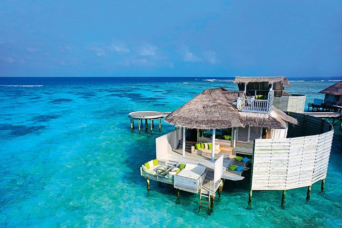 <p><strong>Island Home</strong></p> <p>With its virginal white sand and turquoise waters, Olhuveli Island looks like a movie set without the cameras. Star in your own romance in a private cabin in Laamu Atoll's only resort or switch genres and pursue the action with snorkelling, sailing and wakeboarding. It's the perfect pit stop in paradise toescape the Australian winter.</p>
