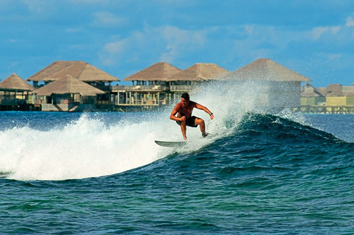 <p><strong>Surf's up</strong></p> <p>Can't face any more pampering? (We know – unlikely.) Then make like KateBosworth in Blue Crush and grab your surfboard. The Yin Yangs surf break – the best in the Maldives – is only minutes away and delivers some hollow barrels along with less-challenging rides. No filter required for the Instagram action shots. </p>
