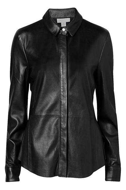 Leather shirt, $299.95, Witchery, witchery.com.au