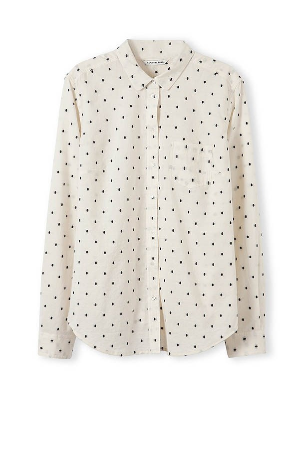 Spot shirt, $99.95, Country Road, countryroad.com.au