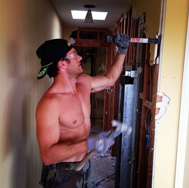 When was the last time you saw Brad Pitt or Ryan Gosling getting sweaty with DIY renovations? Exactly.