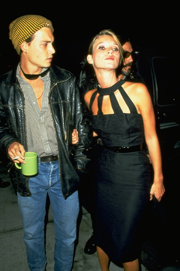"""Kate and Johnny.<br><Br> <strong>Related links:</strong> <a href=""""http://www.elle.com.au/news/celebrity-news/2014/3/rent-kate-moss-and-johnny-depps-love-nest/"""">Rent Kate Moss and Johnny Depp's love nest</a>"""