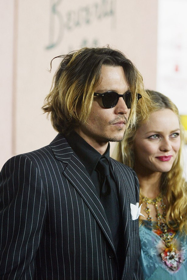 Making balayage happen before it was a thing. Johnny Depp and ex-partner Vanessa Paradis at the Critic's Choice Awards after party at the Beverly Hills Hotel.