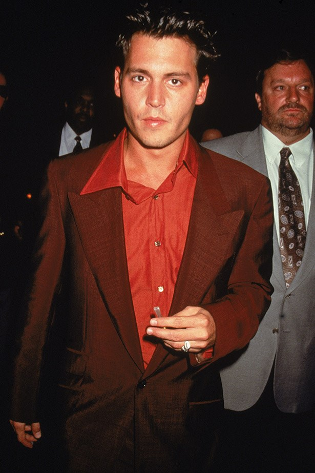 A clean-cut Depp steps out in New York in 1996.