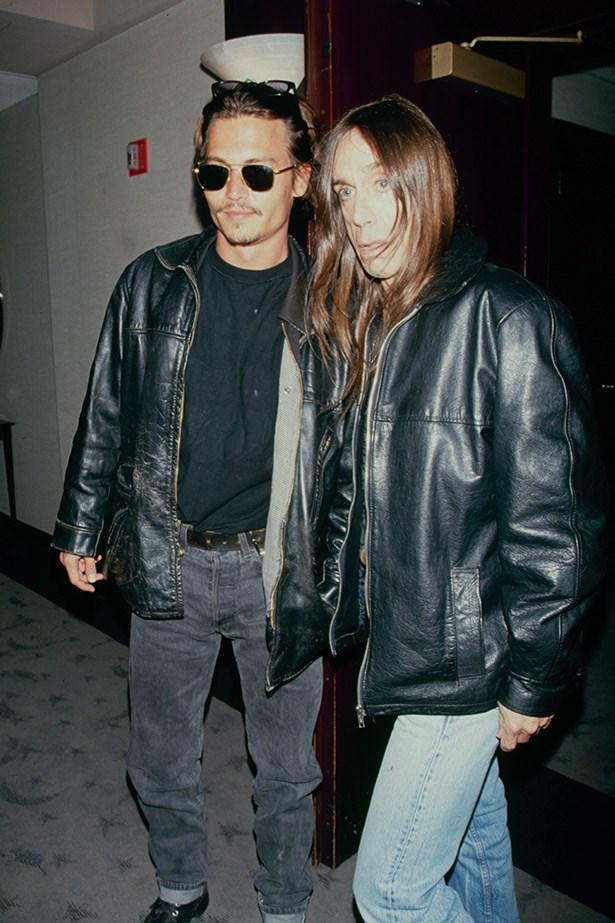 With close friend,Iggy Pop in 1995.