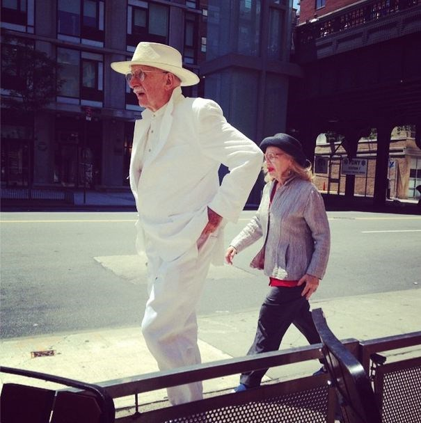 All white everything. This Fashion Grandpa takes his cricket/lawn bowl whites to the next level.