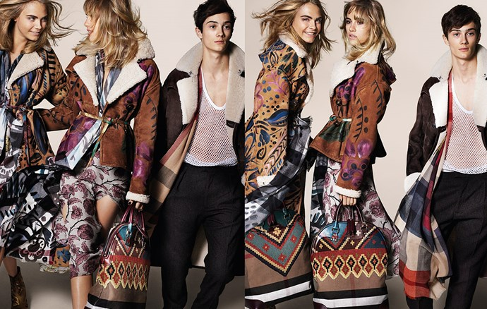 Cara Delevingne and Suki Waterhouse star in Burberry Campaign