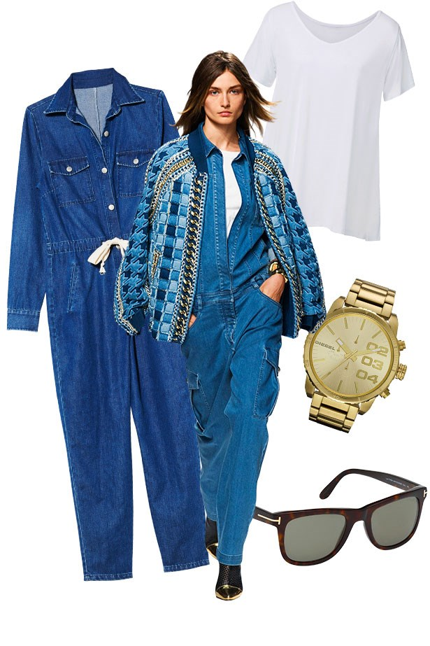 "<p>Jumpsuit, $250, L'America, <a href=""http://www.lamerica.com.au"">lamerica.com.au</a>. T-shirt, $39.95, Seed, <a href=""http://www.seedheritage.com"">seedheritage.com</a>. Watch, $349, Diesel, <a href=""http://www.watchstation.com.au"">watchstation.com.au</a>. Sunglasses, $550, Tom Ford, <a href=""http://www.healyoptical.com.au"">healyoptical.com.au</a>."
