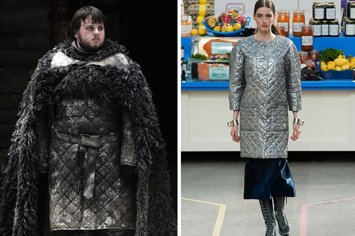 Samwell Tarly <br><br> It can't be easy for Jon Snow's bumbling BFF to stand out from the crowd, but dressing like a Chanel 2.55 is one way to set yourself apart from the rabble on The Wall.
