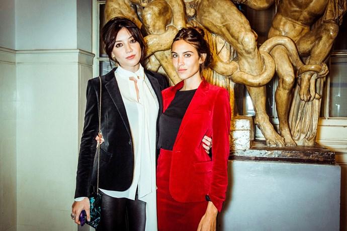 Daisy Lowe and Alexa Chung<br><br> Photos: Morgan O'Donovan