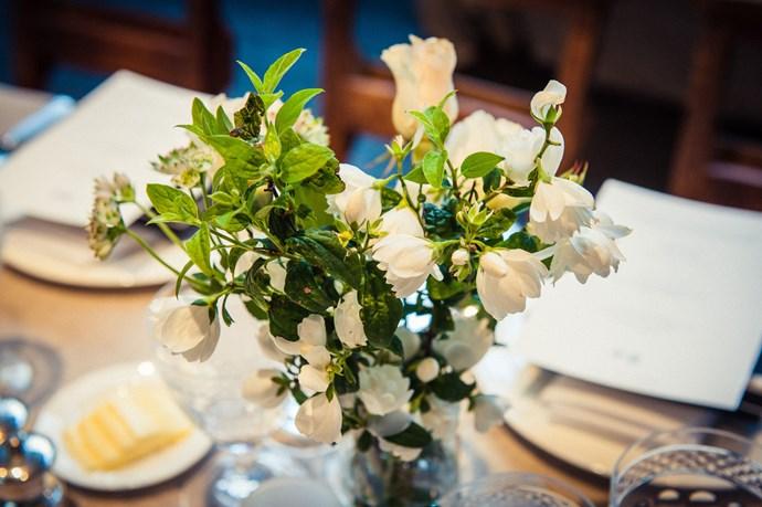 Flowers decorated the table<br><br> Photos: Morgan O'Donovan