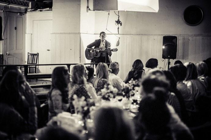 Earl Oakin performing at the dinner<br><br> Photos: Morgan O'Donovan