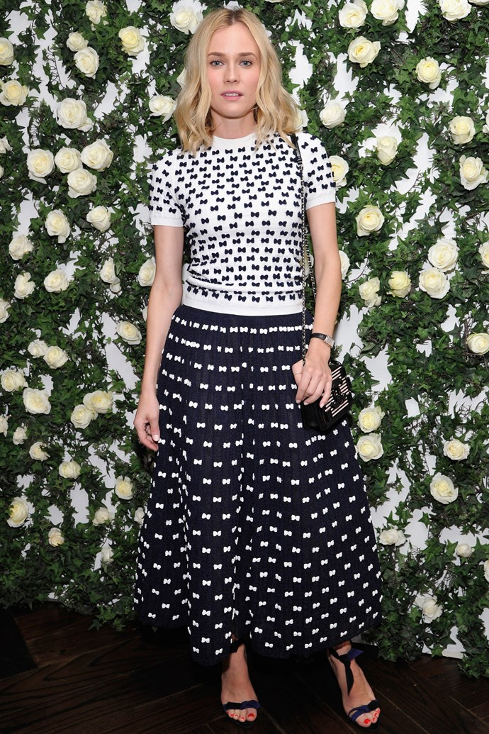 That time she pulled off patterned Chanel culottes like it was no thing.